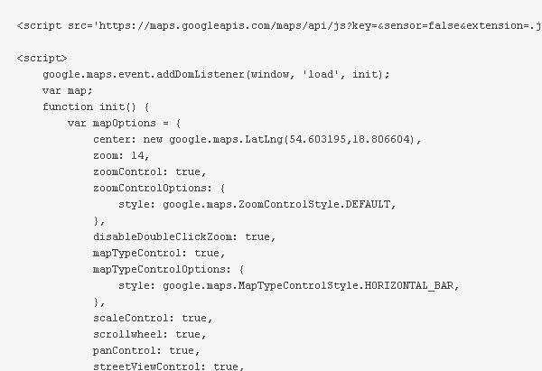 GoogleMapBuilder-eksport-kodu