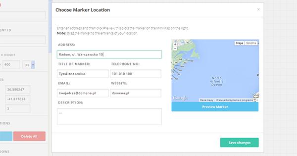 GoogleMapBuilder-lokacje