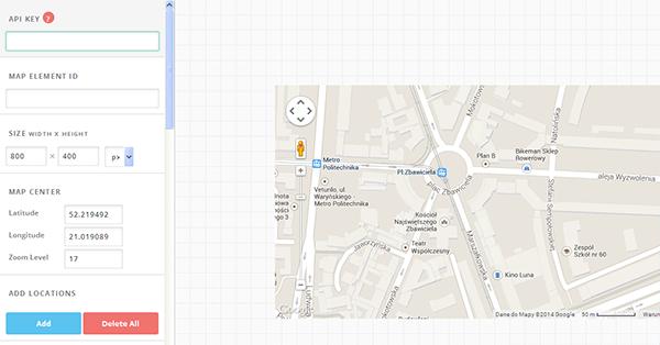 GoogleMapBuilder-opcje